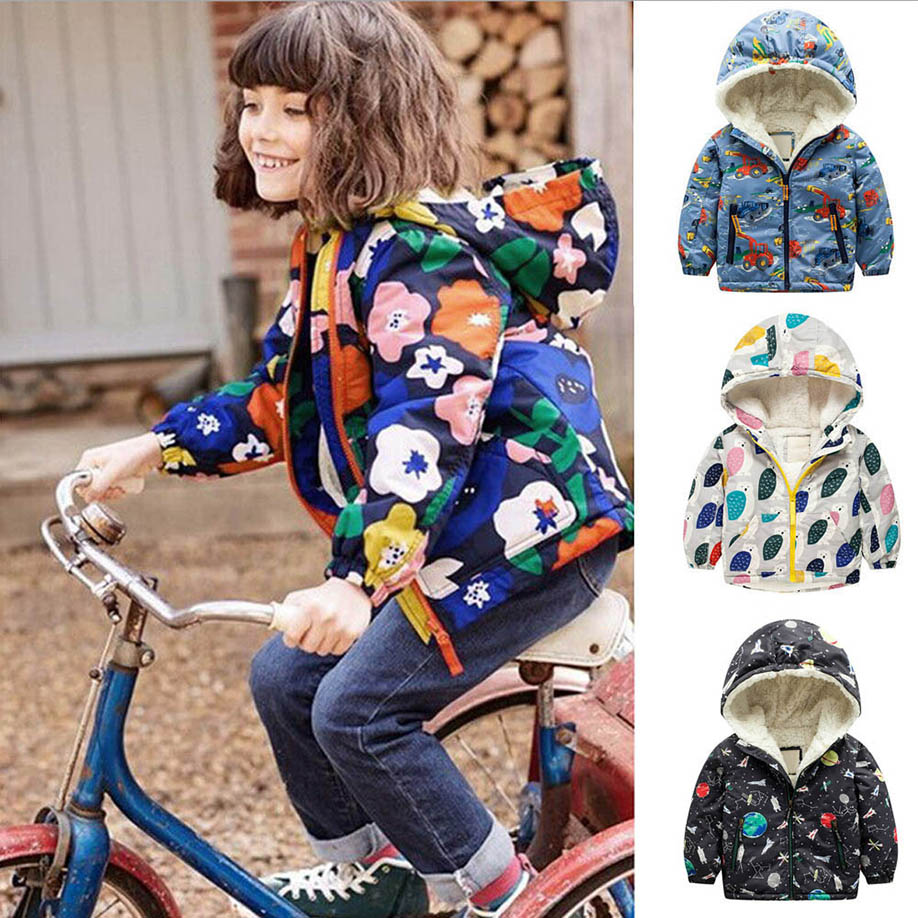 MUQGEW 2017 Hot Sale Newborn Baby Girls Clothes Loog Sleeve Winter Cotton Hooded Coat Jacket Thick Warm Zipper Outwear Clothes women winter coat leisure big yards hooded fur collar jacket thick warm cotton parkas new style female students overcoat ok238