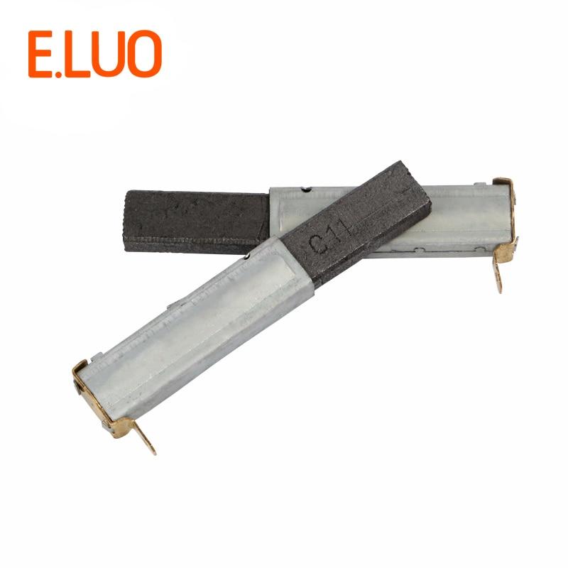 2pcs 75*10*6mm High Quality Vacuum Cleaner Motor Carbon Brush Of Vacuum Cleaner Parts For Industrial Vacuum Cleaner