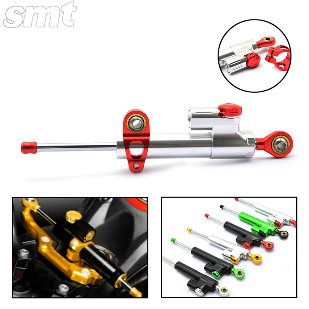Universal Motorcycle CNC Damper Steering Stabilizer Damper Linear Reversed Safety Control for honda cb400 xj6 crf 230 gl1800 cnc steering damper stabilizer linear reversed safety control & adapter bracket for honda cb400 cb 400 vtec 1999 2000 2001 2012