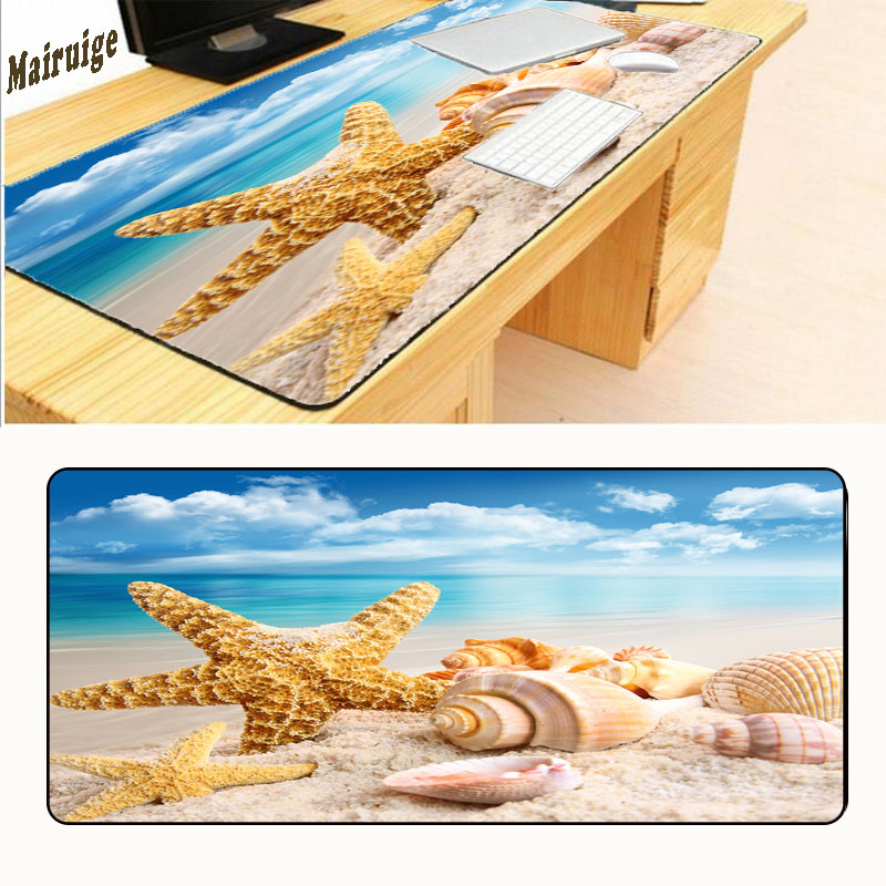 Mairuige DIY Welcome To The Beach Words Print Gaming Mousepad Big Size Rubber Mice Play Mats High Quality Computer Desk Mousemat