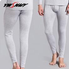 Winter Mens Warm Long Johns Underwear Brand Cotton Thermal Bottoms thermo Leggings Man Home Pants Sexy Hot Sleepwear