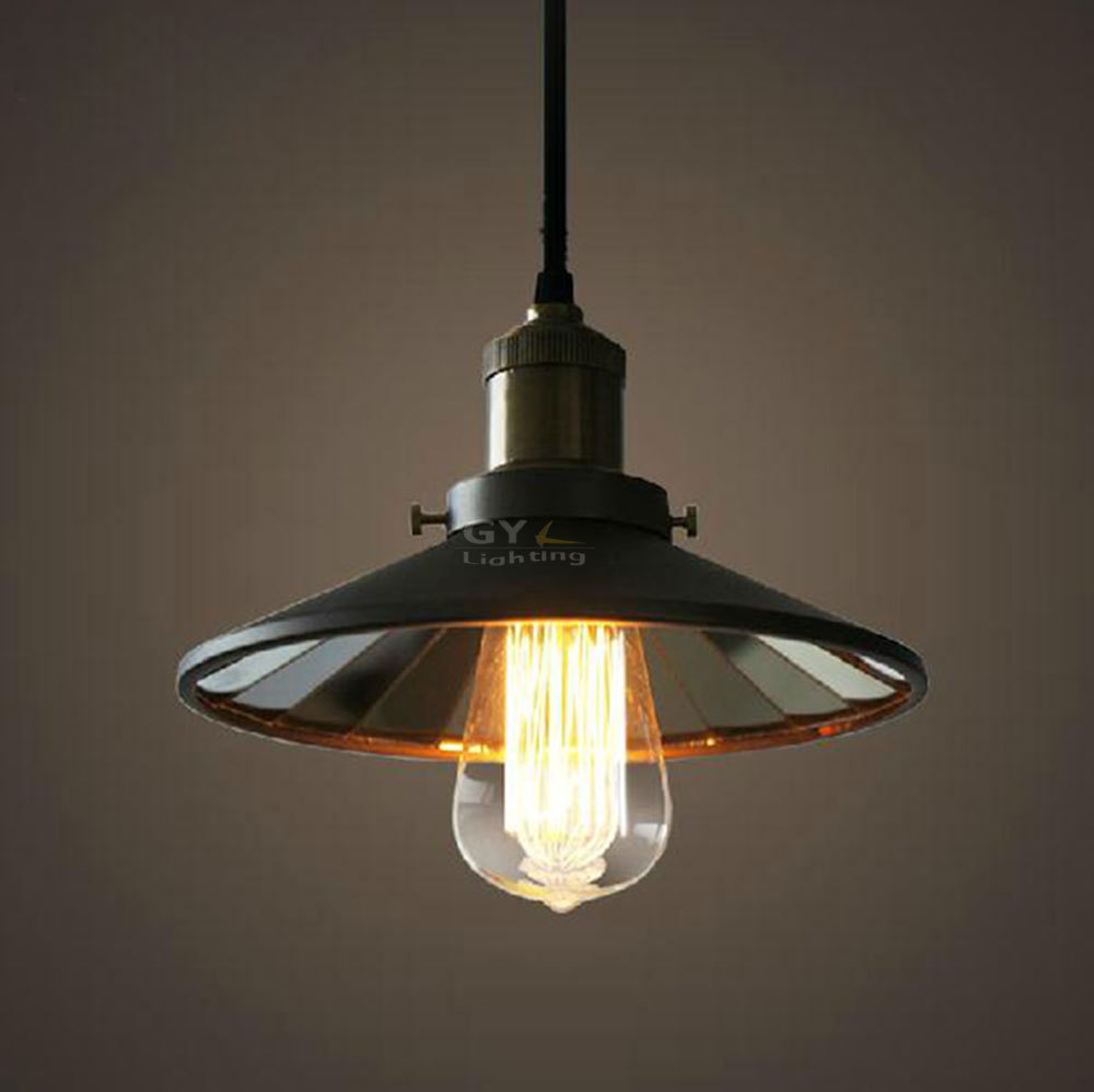 Ac110 240v d22 metal lampshade e27 edison carbon bulb black mirror ac110 240v d22 metal lampshade e27 edison carbon bulb black mirror pendant light restaurant bar stairs single head hanging lamps in pendant lights from aloadofball
