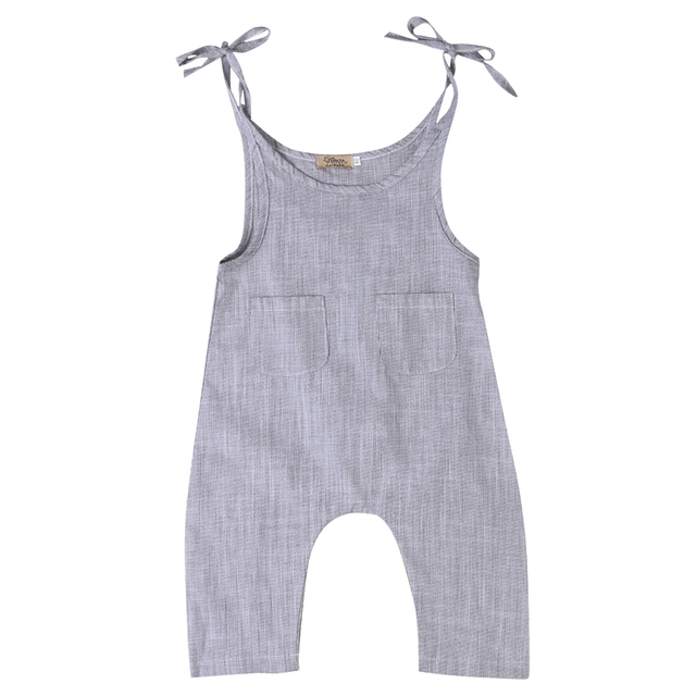 34005ebcd24 Summer Newborn Baby Girl Clothes Cotton Sleeveless Striped Romper Infant  Boy Girl Jumpsuit Kids Clothes Outfit