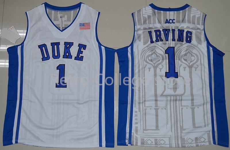 Prix pour Pas cher #1 kyrie irving jersey Duke Blue Devils Régression Jers Rétro Basket-Ball Jersey Nouveau Matériel de Bonne qualité broderie jersey