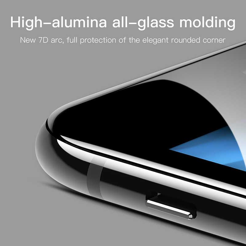 Baseus 7D واقي للشاشة زجاج مقسى ل iPhone 8 7 Plus 0.3 مللي متر الجبهة منحني غطاء كامل حافة تشديد زجاج واقي فيلم