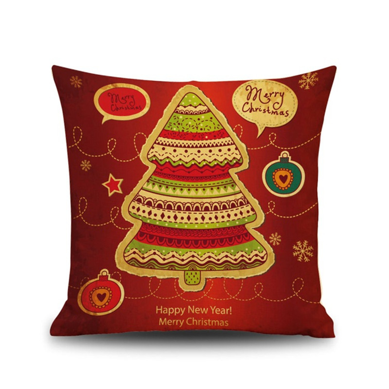 Christmas decorations for home festival tree sock pattern Pillow case Cushion Cover Sofa office coffee shop chair New year gift