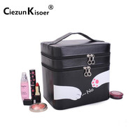 New Double Layer Large Capacity Professional Makeup Case Women S Portable Make Up Bag Is On
