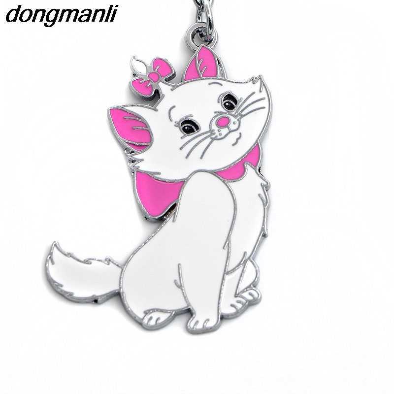 F261 koty klucz kot pierścienie łańcucha moda zwierząt breloczek spersonalizowany brelok do kluczyków do samochodu kobiet torba breloczek