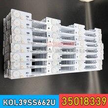 חדש 500 חתיכות LED תאורה אחורית בר עבור KONKA KDL39SS662U 35018339 35018340 327mm 4 נוריות (1 LED 6 V)