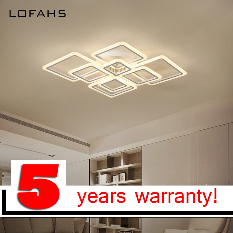 LOFAHS Modern acrylic LED ceiling light Overlapping frames large luxury ceiling lamp for living dining bed room luster