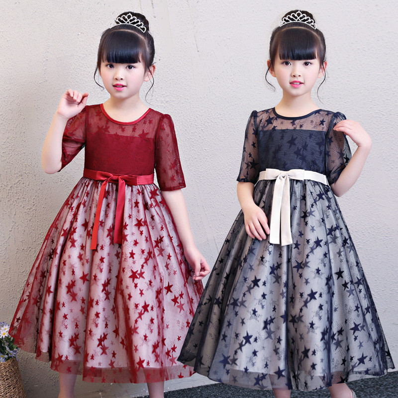 Baby Girls Dress Summer Lace Costume for Kids Clothing 2018 Brand Children Party Dresses Long Sleeve Girls Clothes Princess Gown girls lace dress 2016 summer girls dresses kids clothes e mbroidery princess dress girls costume children dress