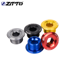 ZTTO MTB Crank Arm Bolt For Mountain Road Bike Bottom Bracket Cap M20*10 Crankset Screw For Parts Bicycle BB Axis Screws цена