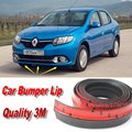 Car Bumper Lips For Renault Logan / Tondar / Symbol / Front Lip Deflector Lips / Body Kit / Body Chassis Side Protection