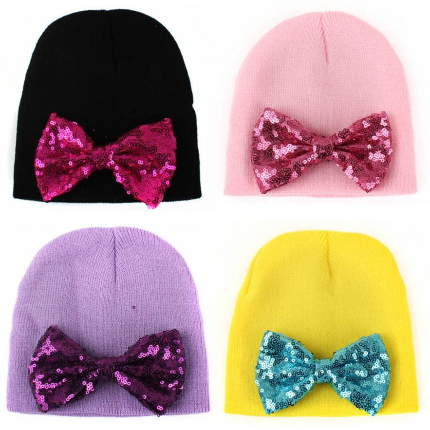 ecfe13400c8 Newborn Cute Hat Bow Baby Girl Boy Hat Beanie With Bowknot Hat Baby Girls  Knitted Beanies Cap gorro infantil