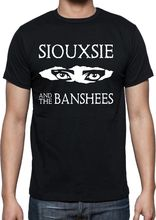 Designer Tees O-Neck Short Sleeve Siouxsie & The Banshees Augen Punk Rock Print Tee For Men