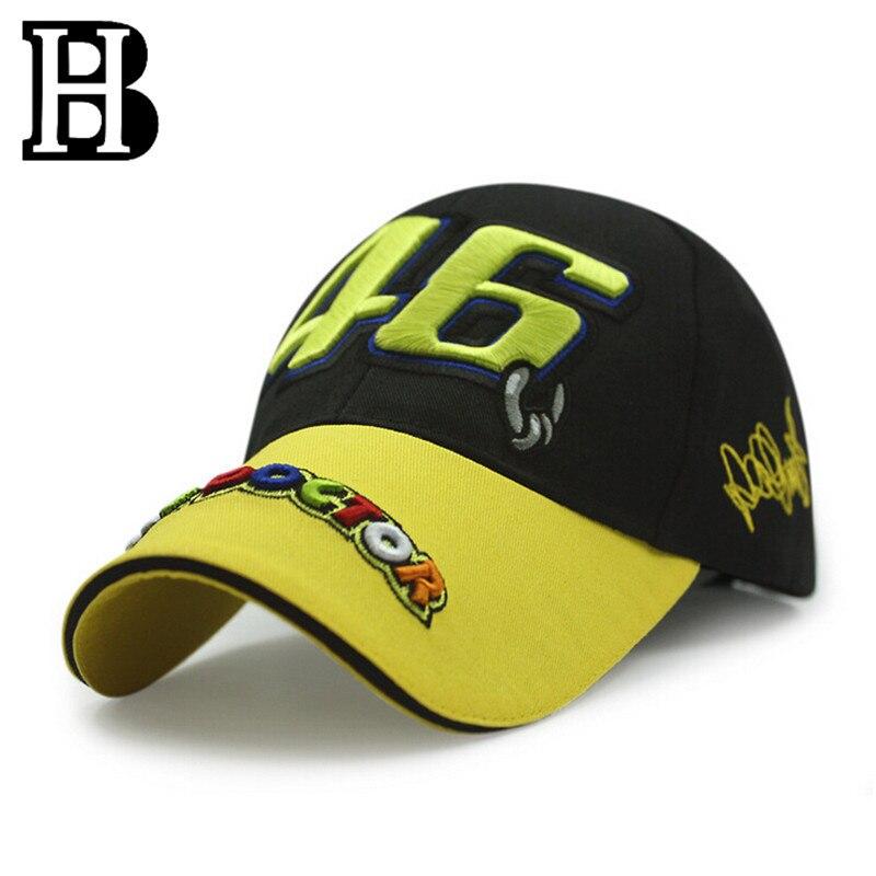 Prix pour 2016-2017 Nouveau Rossi VR 46 Casquettes Baseball casquettes snapback os masculino moto gp rossi vr46 Moto hommes pour femmes chapeaux Casquette