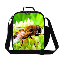 Hot Sale Small Bee Lunch Bag For Kids Animal Print Children Lunch Box Girl Christmas Gift