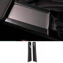 CNORICARC черный Нержавеющаясталь Управление стаканов воды отделкой полосы из углеродного волокна укладки автомобильные аксессуары для Volvo XC60 S60 V60