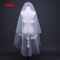 FADISTEE Wedding Bridal short Veil appliques Elegant Wedding Accessories Velos De Novia voile de mariee