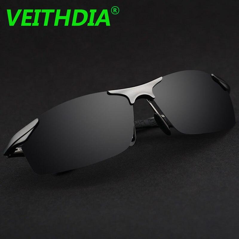 Diseñador de la Marca gafas de Sol Polarizadas de Los Hombres Gafas de Conducción De Aluminio Y Magnesio VEITHDIA Gafas de Verano 2017 Gafas Accesorios 6529