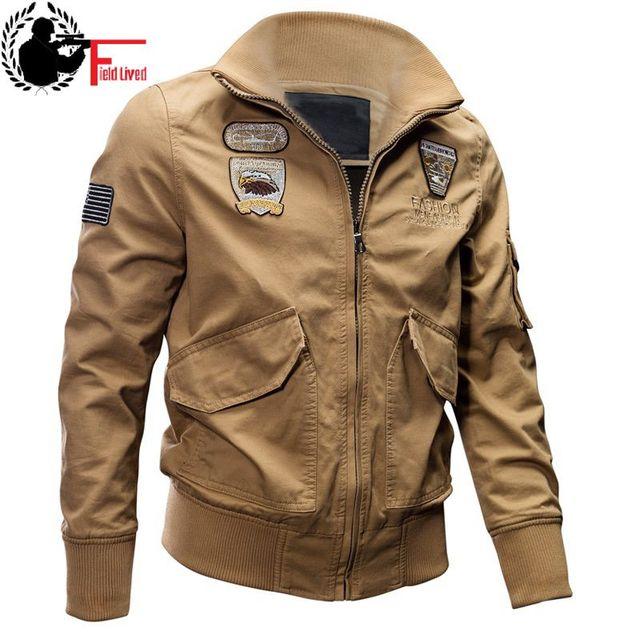 Men Jacket Coat Autumn Winter Bomber Tactical Military Style M65 Uniform Flight Army Green Male Windbreaker Outwear Black Khaki