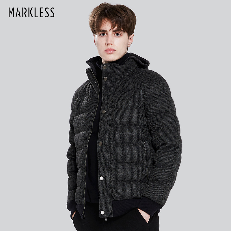 a7a3734746d56 Markless 2018 Men High-end Seamless Down Jackets Brand Clothing Casual  Thick Down Jackets Fashion Winter Coats Parkas YRA7318M