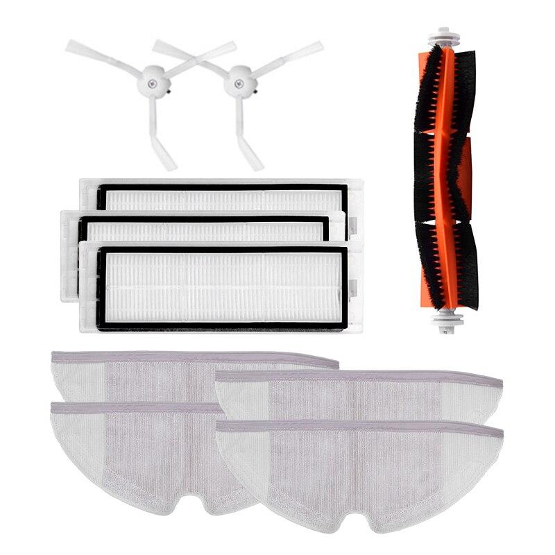 10 teile/los Neue Wichtigsten pinsel Hepa-Filter Seite pinsel Mopp tücher Kit zubehör für Xiaomi mijia roboter roborock s50 s51 roborock 2