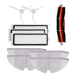 10pcs/lot New Main brush Hepa Filter Side brush Mop cloths Kit accessories for Xiaomi mijia robot roborock s50 s51 roborock 2