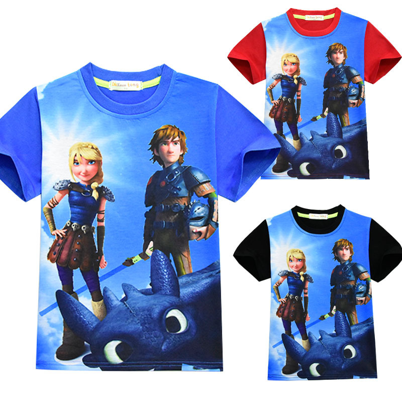 Kids How To Train Your Dragon: The Hidden World Cartoon T Shirt Boy's Girl's Top T-shirts Child Top Tee Halloween Costume