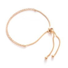 Exquisite Glitter Crystal Gold Silver Rose Gold Color Bracelet Adjustable Simple Bangles Jewelry Wedding Party Hot Gift(China)