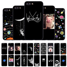 Funny Lover Pig Print Phone Case For iphone X XS Max XR Case For iphone 6 6S 5 5s 7 8 plus SE Soft TPU Cover Cute Couple Cases(China)