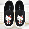Kids casual canvas graffiti shoes girls cartoon princess flat shoes slip-on Loafers children's sports shoes girls sneakers