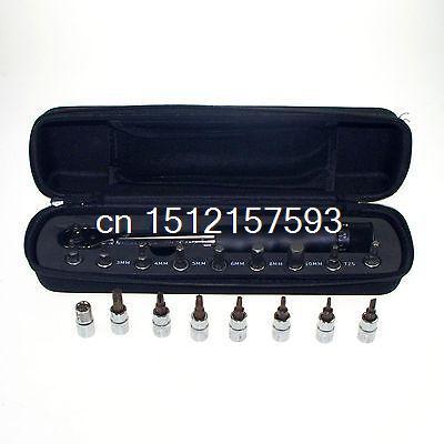 Set 2 ~ 14N 1/4 Bike Automobile Azionamento Torque wrench key strumento Socket Set KitSet 2 ~ 14N 1/4 Bike Automobile Azionamento Torque wrench key strumento Socket Set Kit