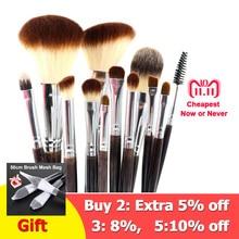 hot deal buy professional makeup brush set 12pcs high quality makeup tools kit violet