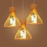 Люстра китайский ресторан Bamboo творческий бамбука свет коридор огни Юго Восточной Азии деревянный лампы ZA627 ZL125