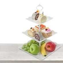 Party Three-layer Fruit Plate Cake Stand Dessert Vegetable Storage Rack Creative Cake Rack Dried Fruit Plate Afternoon Tea Snack стоимость