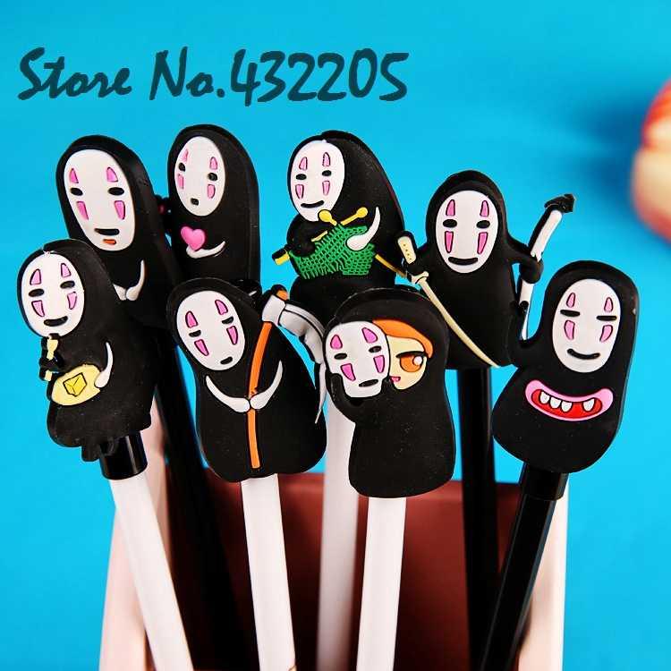 Spirited Away Action Figure Ada Wajah Man Mainan Model baru Gel pena Sekolah Mahasiswa Alat Perlengkapan Pesta Ulang Tahun Anak Gril Teman Hadiah