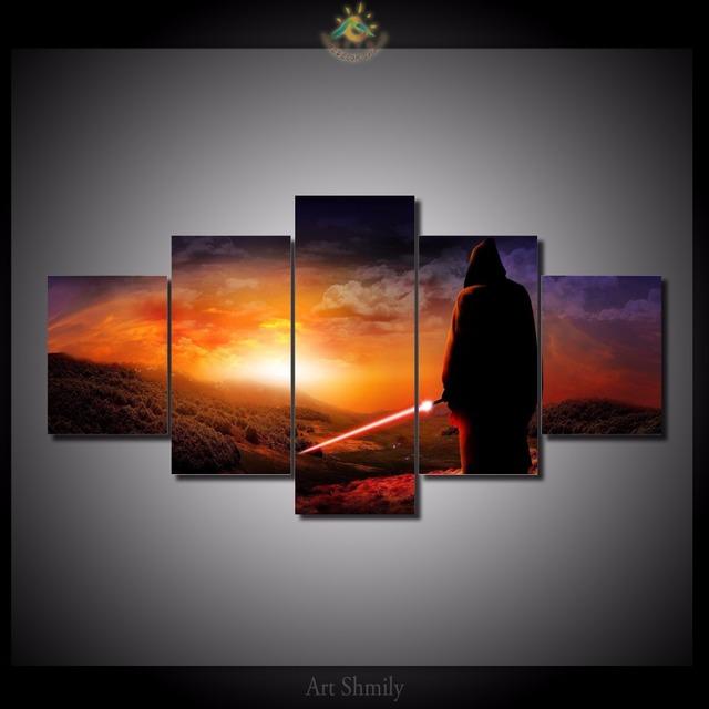 HD Printed Star Wars 5 Pieces/set Canvas