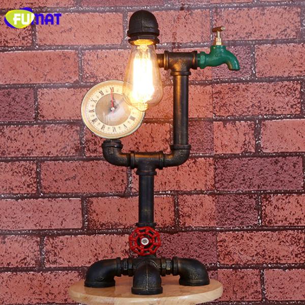 Pipe Vintage Table Lamp 14