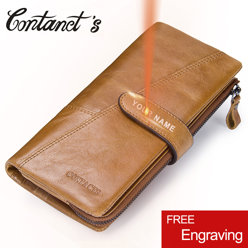 Classic Clutch Wallet Men Genuine Cow Leather Male Money Bag Detachable Design Zipper Coin Purse Long Phone Pocket Photo Holder sammons brand new design fashion genuine cow real leather men long zipper clutches cards phone holder wallet