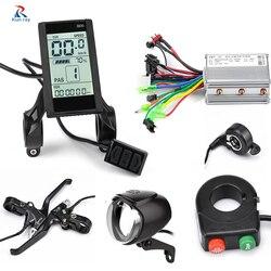 Rower elektryczny wyświetlacz LCD 24V 36V 48V 250W 350W Acelerador  EBike światła  elektryczny regulator prędkości  odciąć  przełącznik