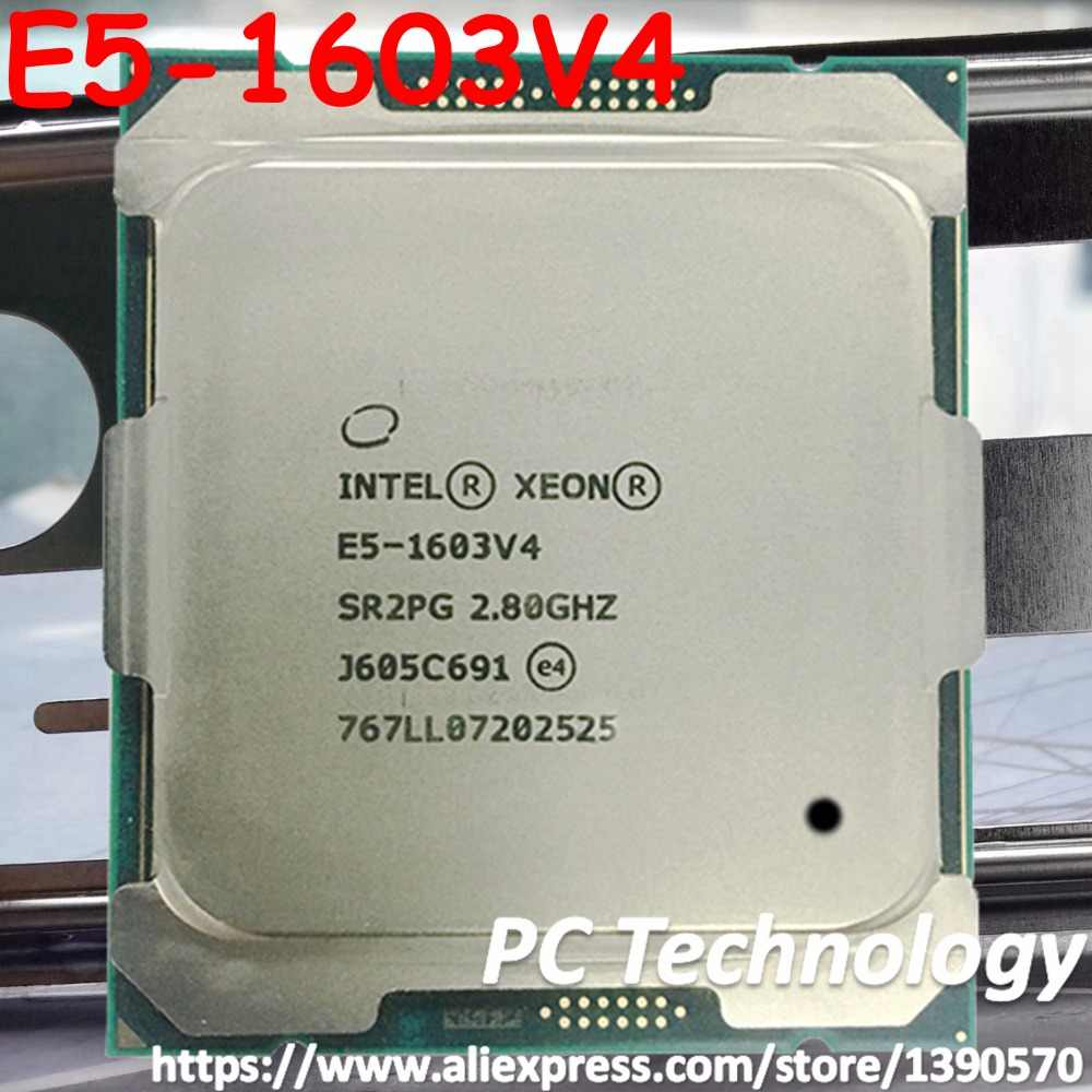Original Intel Xeon E5-1603V4 CPU 2.8GHZ Quad-Core 10MB 140W E5-1603 V4 E5 1603 V4 LGA2011-3 E5 1603V4 processor free shipping