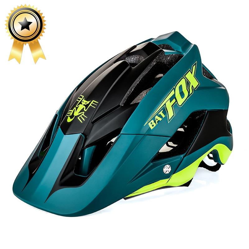 2018 nuevo general de moldeo de la bici del casco de la luz ultra-casco de bicicleta de alta calidad bicicleta mtb bicicleta casco ciclismo 7 color murciélago zorro DH soy