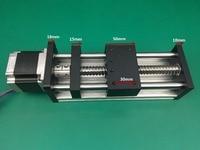 GGP ballscrews 1204 1605 1610 600mm Ball Screw Slide Rail Linear Motion Guide Moving Table+1pc Nema 23 motor 57 Stepper Motor