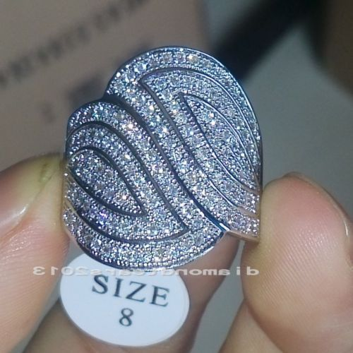 wholesale Freeshipping Big promotion  140pcs CZ  Sz6/7/8/9 Luxury Jewelry 10kt white gold filled Wedding Ring gift choucong