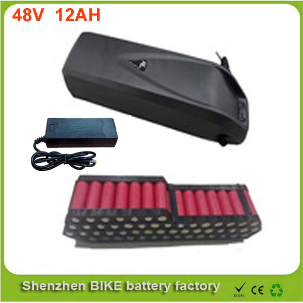 down tube electric bicycle 48v 750w lithium ion battery pack 48v 12ah Hailong ebike battery with charger For Panasonic Cell free shipping customs duty hailong battery 48v 10ah lithium ion battery pack 48 volts battery for electric bike with charger