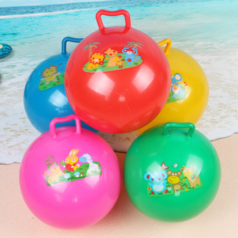Toy Baby Play Ball With Handle Color Random Game Sport