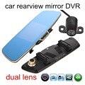 5.0 Pulgadas FHD 1080 P coche Dual DVR con la cámara trasera de aparcamiento espejo Retrovisor grabador de vídeo videocámara de automoción