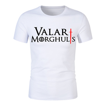 цена на 2019 Summer Tshirt Men Valar Morghulis All Men Must Die Valyrian Game of Thrones T Shirts Casual 100% Cotton Men's Tops Tees