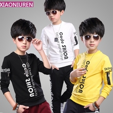 In the spring of 2016 new boys long sleeve shirt children children sweater in Korean T-shirt bottoming cotton baby clothes tide